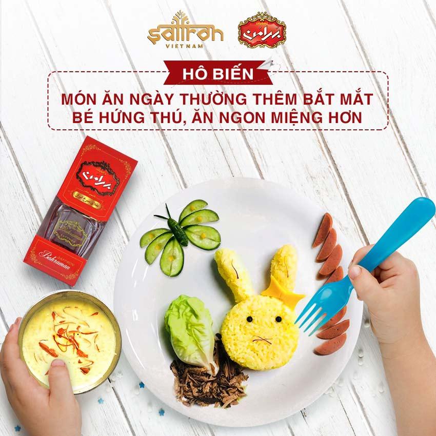 Tác dụng Saffron Bahraman với trẻ em - Giúp bé ăn ngon và cải thiện hệ tiêu hóa