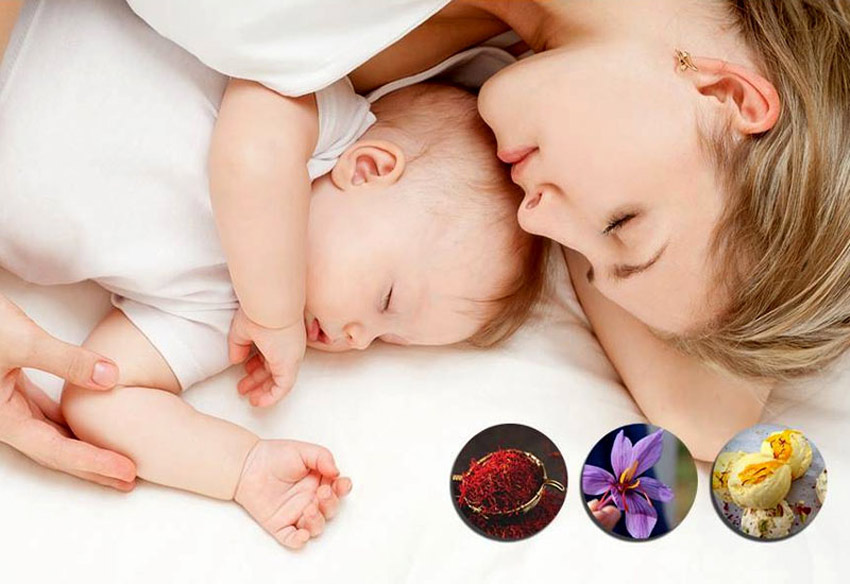 Phụ nữ sau sinh dùng saffron được không?