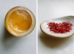 saffron ngâm mật ong